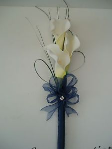 blue and yellow wedding pieces in a bascket | eBay
