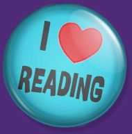 I <3 Reading button created in honor of Read Every Day. Lead a Better Life.