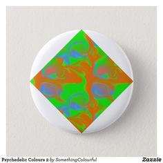 Shop Psychedelic Colours 2 Button created by SomethingColourful. Create Your Own, Create Yourself, Psychedelic Colors, Funky Design, 2 Colours, Invitation Cards, Holiday Cards, Art For Kids, Art Pieces