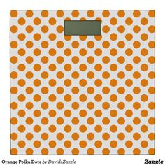 Orange Polka Dots Bathroom Scale Available on many products! Hit the 'available on' tab near the product description to see them all! Thanks for looking!  @zazzle #art #polka #dots #shop #home #decor #bathroom #bedroom #bath #bed #duvet #cover #shower #curtain #pillow #case #apartment #decorate #accessory #accessories #fashion #style #women #men #shopping #buy #sale #gift #idea #fun #sweet #cool #neat #modern #chic #laptop #sleeve #black #orange #blue #yellow #red #green #white