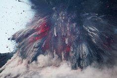 Vulcanian explosion at Anak krakatau volcano by volcanodiscovery, via Flickr