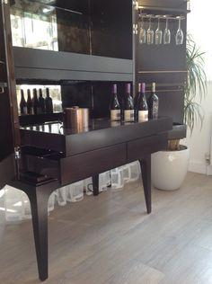 Bespoke by Decca // Bespoke Dry Bar Cabinet (interior with shelves) // Bespoke…