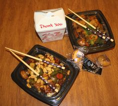 chinese takeout. guilty pleasure :)