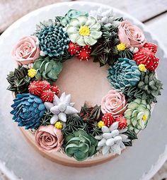 Desert-Inspired Desserts | Succulent Garden Buttercream Flowers Cake | Colourful Dessert Table | Mexican Fiesta Party Ideas | Kids Party Inspiration | HOORAY! Mag