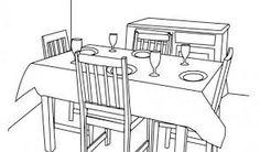 Resultado de imagen para DIBUJO DE COMEDOR Diagram, Floor Plans, Houses, Dining Room, Drawings, House Floor Plans