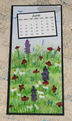 Ink Stains: 2016 Watercolor Calendar - June