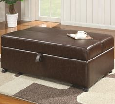 Gothic Cabinet Craft - Pandora Ottoman/Folding Bed in Brown Bonded Leather, $499.00 (http://www.gothiccabinetcraft.com/pandora-ottoman-folding-bed-in-brown-bonded-leather/)