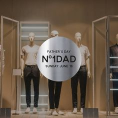 Number One Dad Father's Day Retail Display Removable Window Decals, Number One, Fathers Day, Dads, How To Remove, Retail, Display, Shop, Floor Space