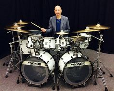 Steve Smith from Journey and his Sonor Kit 61 Key Keyboard, Keyboard Piano, Diy Drums, Drums Art, Journey Band, Neal Schon, Drum Heads, Electric Piano, Steve Smith