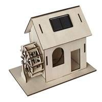 A Desktop Solar Powered Watermill Model. A Fantastic Christmas Gift Idea Solar cell included Detailed assembly instructions Suitable for 3 years and upwards Construct a wooden wate