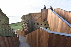 Image 7 of 16 from gallery of Kalø Tower Visitor Access / MAP Architects + Mast Studio. Photograph by Bjørn Pierri Enevoldsen Architecture Magazines, Amazing Architecture, Architecture Design, Medieval Tower, Medieval Castle, Castle Ruins, Map Architects, Conservation Architecture, Stair Renovation