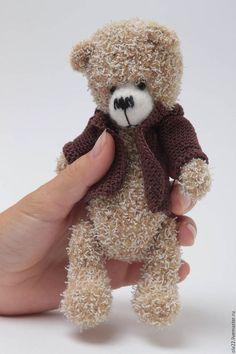 Teddy bear  Мишки Тедди ручной работы. Заказать мих  Сережа). o.grechko. Ярмарка Мастеров. Мишка ручной работы, нить хлопковая