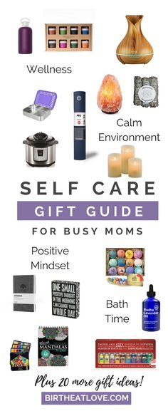 Self Care gift guide for busy moms with over 30 gift ideas. Gifts under $20 for mom and the special women in your life.