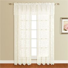 United Curtain Co Montecarlo 56x16 Rod Pocket Valance