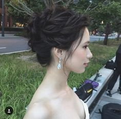Asian Wedding Hair, Wedding Hair And Makeup, Hair Makeup, Bride Hairstyles, Trendy Hairstyles, I Like Your Hair, Bridal Hairdo, Hair Setting, Elegant Updo