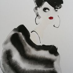 Striped wrap. Bridget Davies Art