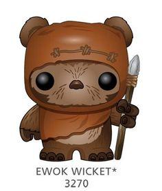 Amazon.com: Funko POP Star Wars: Wicket Bobble Figure: Toys & Games