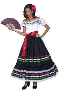 Traditional Mexican Woman Costume