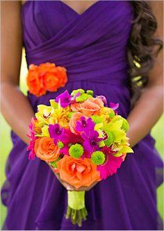 Vibrant Wedding Flowers: Bright Colours