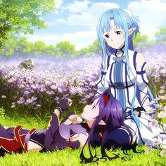 Sword Art Online, Yuuki & Asuna, official art