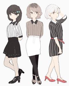Kuroneki,Haise e Shironeki mulheres - Tokyo Ghoul