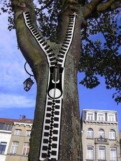 ZIP TAPE on a tree - Benoit Lemoine