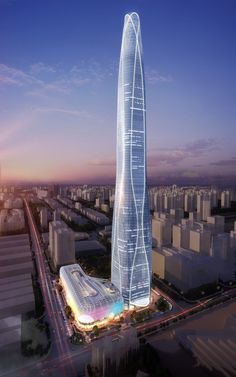 10 tallest buildings under construction or in development around the world - Curbedclockmenumore-arrow : In the race to build vertically, China has a commanding lead Modern Architecture Design, Vintage Architecture, Futuristic Architecture, Beautiful Architecture, Architecture Plan, Watercolor Architecture, Amazing Buildings, Modern Buildings, Modern Skyscrapers