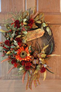 Front Door Wreath Fall Wreath Autumn Wreath by FloralsFromHome, $139.00