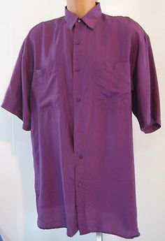 IN PRIVATE 100% SILK SIZE XL MEN'S BUTTON DOWN SHIRT