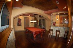 pool/bar room all wood. gorgeous!