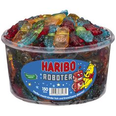 Haribo Robots Gummy Bears Wine Gum Fruit Gum Candy Sweets 150 Pieces Box 1200 g Candy Watch, Harry Potter Candy, Wine Gums, Fruit Gums, All Candy, Doja Cat, Fun Snacks For Kids, Gummy Bears, Dose