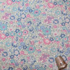 VINTAGE LIBERTY Of LONDON Tana Lawn Floral Fabric. $16.99, via Etsy.