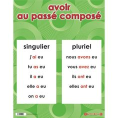 These great double sided chart are perfect for learning basic skills in English and French. One side has the English and the other side the French. The Chart measure Home Learning, Learning Activities, French Verbs, Verb Tenses, Comprehension, Culture, French Tips, Fle, Verb Words