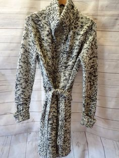 Women's Ann Taylor Loft Long Knit Sweater Cardigan M Medium Wool #AnnTaylorLOFT #Cardigan