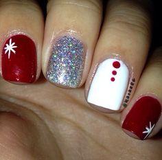 christmas nails, simple nails , nail designs
