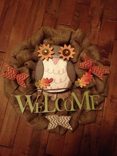 Owl wreath!! @thesoutherndoor