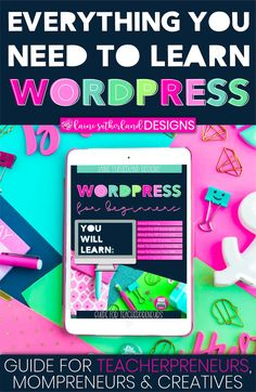 WordPress For Beginners eBook Google Analytics, Custom Fonts, Planner Pages, Site Design, Search Engine Optimization, Planners, Seo, Worksheets, How To Start A Blog