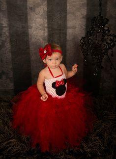 Red Minnie Feather Tutu Dress