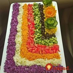 Decorate the تزیین سالاد Decorate the salad - Veggie Platters, Party Platters, Veggie Tray, Food Platters, Salad Design, Food Design, Persian Recipes, Comida Picnic, Charcuterie Recipes