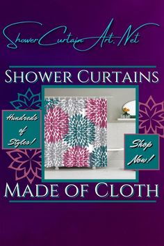 Drastically enhance your bathroom decor with a soft & stylish fabric shower curtain from Shower Curtain Art. Our luxurious high quality fabric shower curtains are all made with 100% premium grade soft polyester cloth. This allows the curtain to drape gracefully while also providing quick drying technology which easily evaporates any unwanted moisture. Shower Curtain Art, Modern Shower Curtains, Floral Shower Curtains, Bathroom Shower Curtains, Bathroom Fixtures, Bath Screens, Bathroom Furniture, Bathroom Ideas, Shower Accessories