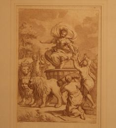 After Pietro Cortona by Giuseppe Zocchi The Triumph of Ceres Etching printed in brown c 1760