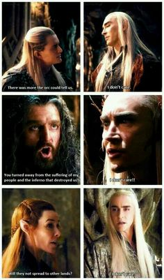 """Thranduil and all of his """" I don't care """""""