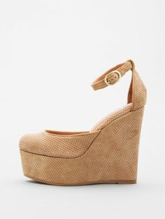 Camel Suede Bette by Jeffrey Campbell (the Steve Madden of the double o's) $125  #shoes #platforms