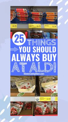 Spending your grocery budget at ALDI? This list is SO helpful to know which items are HOT deals that will save you tons of money at ALDI! This is so helpful of items that are for sure cheapest at Aldi! #aldi #grocerybudget #shoppingtip #shoppinghack Grocery Savings Tips, Savings Plan, Aldi Grocery Store, Dessert Party, Living On A Budget, Frugal Living Tips, Family Budget, Frugal Tips, Save Money On Groceries