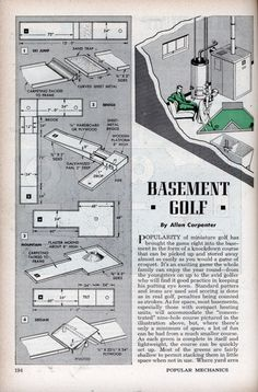 Build a Basement Golf Course | Modern Mechanix