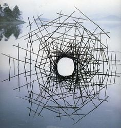 "landscape-photo-graphy: "" Artist's Temporary Decaying Art Brings Enchantment To The Forest British sculptor Andy Goldsworthy is known for his phenomenal and temporary, installations which involve using natural elements, ranging from sticks, stones,..."