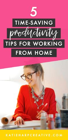 5 Working from Home Productivity Tips - Katie Harp Creative Make Money From Home, Make Money Online, How To Make Money, Business Tips, Online Business, Creative Business, Content Marketing Strategy, Influencer Marketing, Management Tips