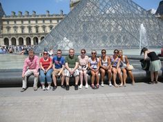 France Study Abroad 2012: Group shot of students in front of the Louvre