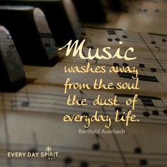May music do some holy housekeeping in our souls. #music For the app of beautiful wallpapers ~ www.everydayspirit.net xo