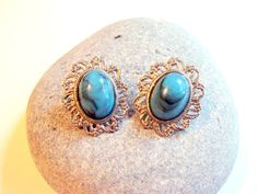 Vintage Silver and Turquoise Cameo Style by AntiqueAlchemists, $10.00
